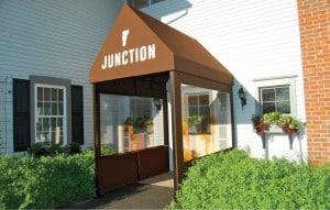 Restaurant entrance awning