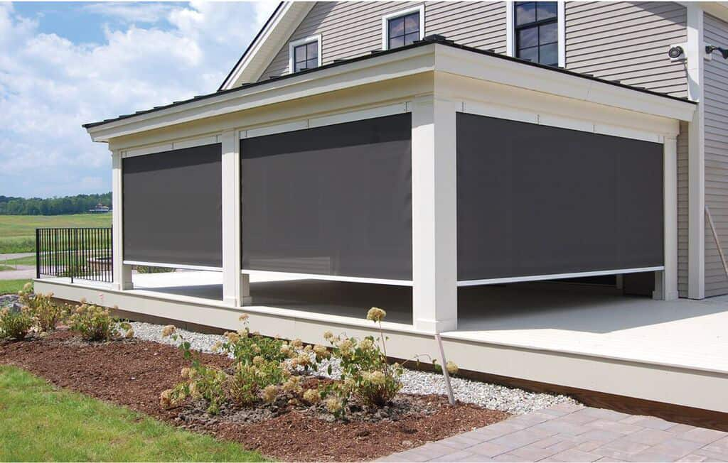 Residential awnings portfolio otter creek awnings for Retractable walls residential